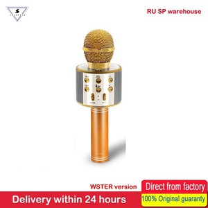 Image 3 - 100% Original WSTER Version Bluetooth Wireless Microphone Speaker WS 858 Handheld Karaoke Sing Recorder KTV Mic For Andriod IOS