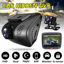 HD 1080P Mini Smart Wifi Car DVR Dual Lens Rear Camera Night Vision Dash Cam Auto Registrator Video Recorder Camcorder(China)