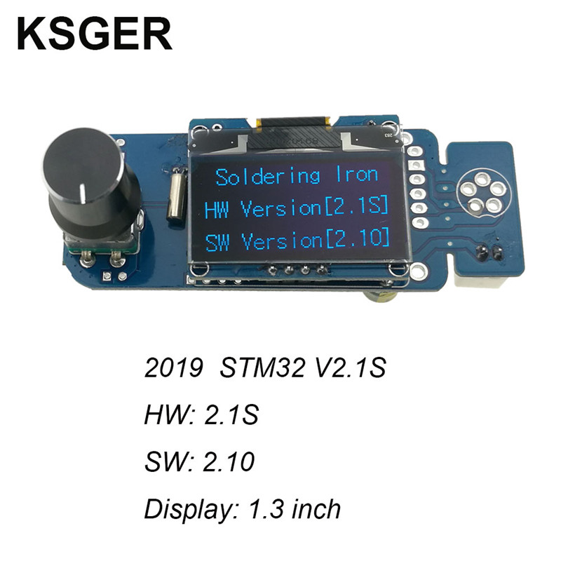 KSGER STM32 OLED Soldering Station T12 Iron Tips V2.1S Controller Welding Tools Sunction Tin Pump Electric Automatic Sleep