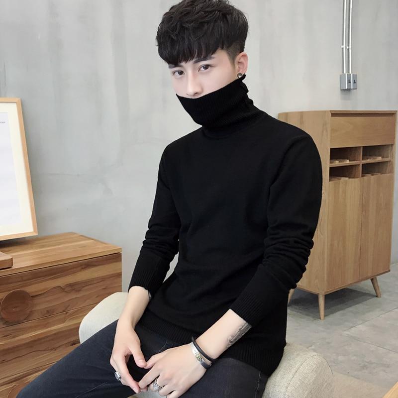 Men's Body,  Turtleneck, Pure Color Sweater, Long-sleeved Korean Version Of Winter
