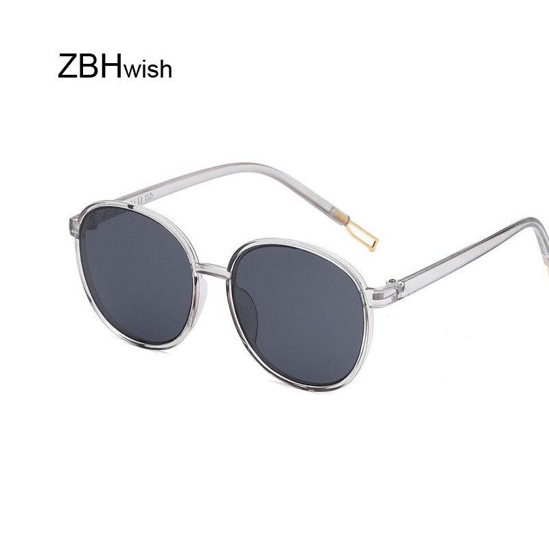 Retro Round Sunglasses Women Brand Design Transparent Female Sun Glasses Female Oculos De Sol Feminino Lunette Soleil
