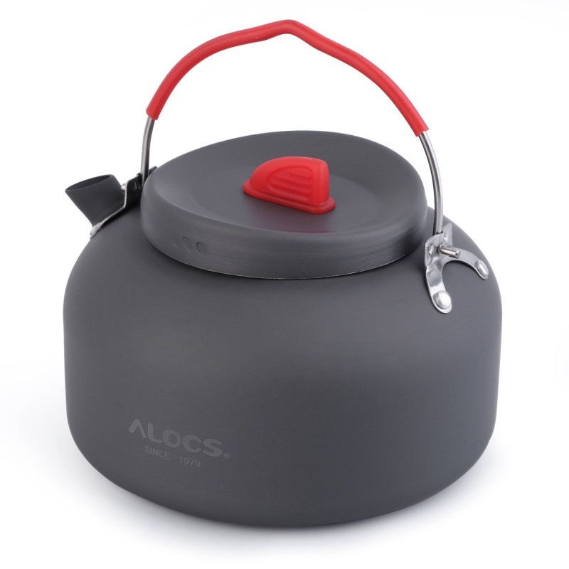 ALOCS 1.4L Hard Alumina Outdoor Kettle Camping Hiking Fishing Barbecue Picnic Water Teapot Coffee Pot CW-K06