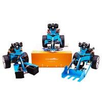 3 в 1 Графический программируемый робот автомобиль с Bluetooth ИК отслеживания модульная модель здания паровой ствол игрушка адаптер объектива