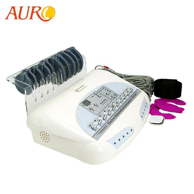 AURO новые русские волны микротоковая EMS электрический стимулятор мышц Массажер для тела Потеря Веса Электро Миостимуляция машина