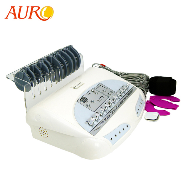 AURO New Russian Waves Microcurrent EMS Electric Muscle Stimulator Body Massager Weight Loss Electro Myostimulation Machine