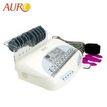 AURO masajeador corporal eléctrico EMS de microcorriente, aparato de electroestimulación para pérdida de peso con ondas rusas, Estimulador muscular