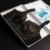 Underwear Beauty Lace Gather Adjust Vice Milky Bra For Women New Push Up Plus Size Bralette Underwire 32 34 36 38 40 B C D E