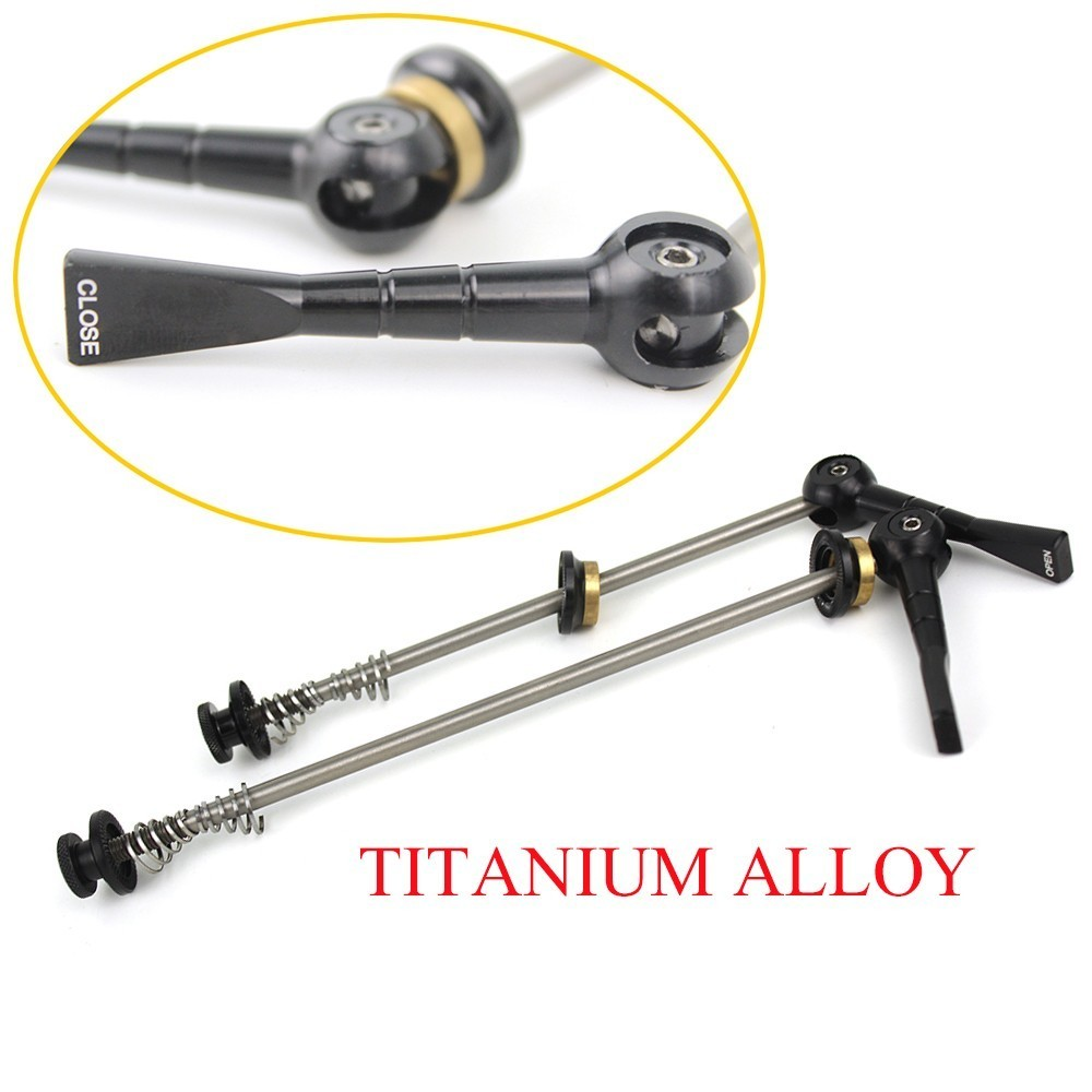 50g Titanium Skewer Front 100mm Rear 130mm QR Super Light Weight  For Mountain Bike MTB Or Road Bicycle Quick Release