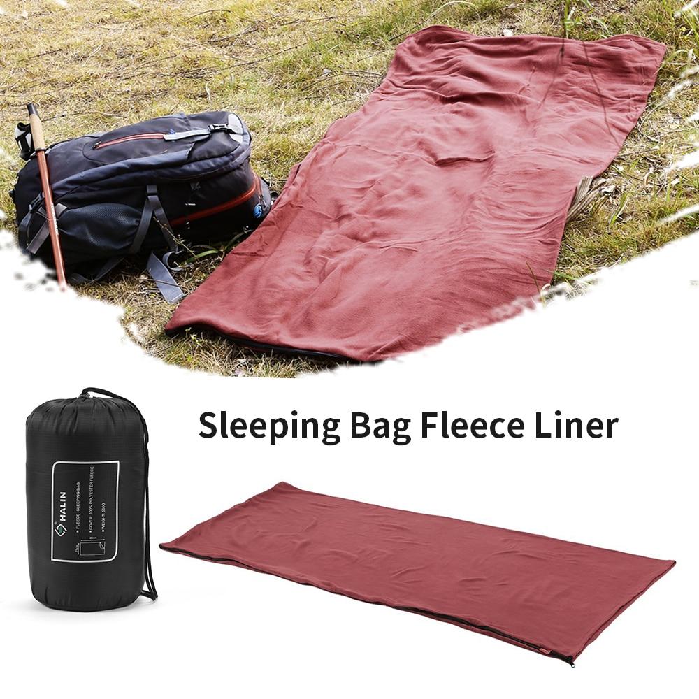 Envelope Fleece Sleeping Sack Sheet Ultralight Travel Lazy Bag Spring Autumn Winter Warmth Insulation