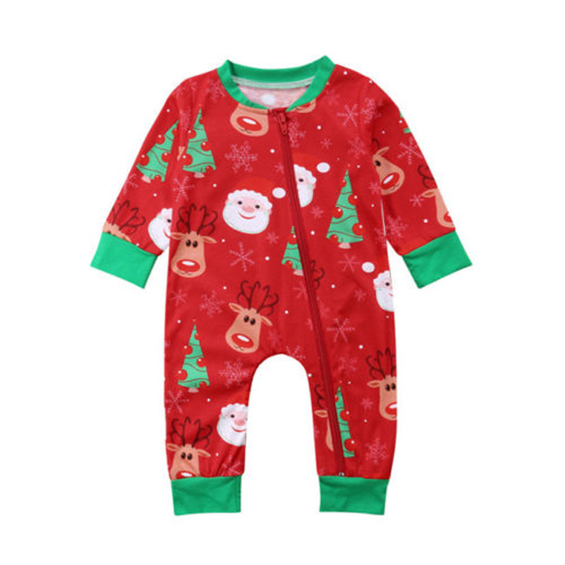 CANIS Red Baby Rompers Newborn Infant Baby Boy Girl Christmas Kid Romper Jumpsuit Playsuit Clothes Outfits Boys Girls Rompers
