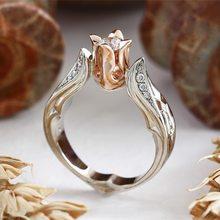 Boda S925 anillos de plata en forma de flor anillo de circón cúbico Bijoux para las mujeres joyería de plata 925 Bizuteria puro Zircon stoneGift