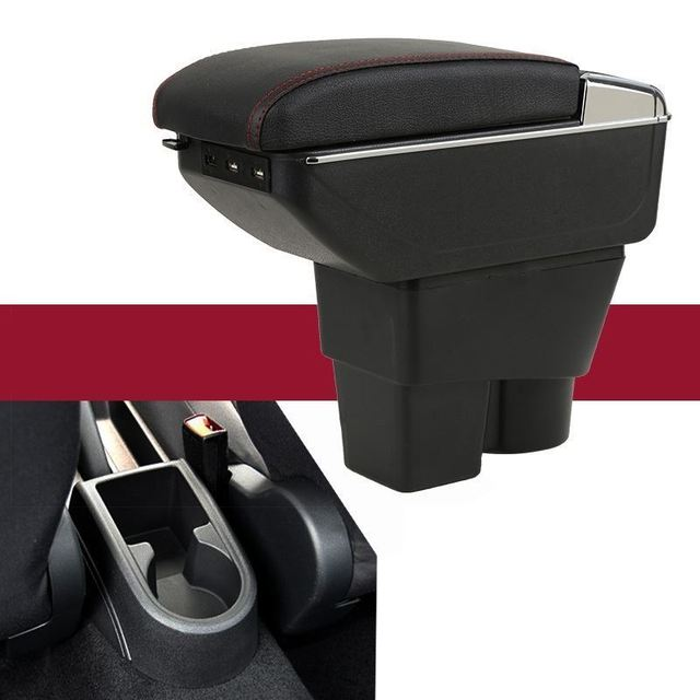 Car-styling Car Arm Rest Modification protector Accessories Interior Upgraded Armrest Box 13 14 15 16 17 18 FOR Skoda Rapid