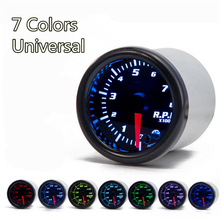 Universal 2 Inch 52mm Tachometer Tach RPM Gauge Digital 7 Color LED Display Car Meter