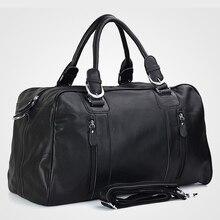 Fashion Men Genuine leather Travel Bags Men Luggage