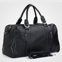 Fashion Men Genuine leather Travel Bags Men Luggage Bag real Leather Weekend bag Duffle Bag Large Overnight Tote Handbag Big