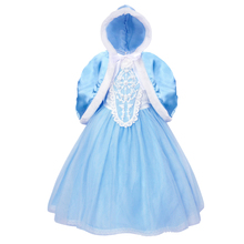 AmzBarley Girls Elsa Princess Costumes Snow Queen Cosplay Dress+ cape Birthday Party Halloween Carnival outfits winter clothes