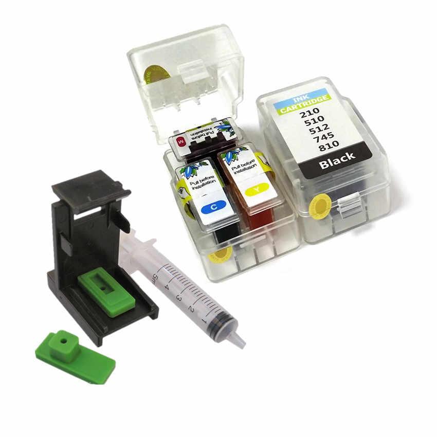 Inteligente kit de recarga de cartucho para canon PG 510 CL 511 445 446 810 811 512 513 145 146 245 246 745 746 545 XL cartucho de tinta