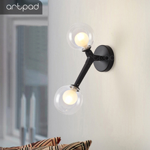 Artpad Modern Simple Magic Bean G9 Bulb Wall Lamp Nordic Asile Stair Bedroom Beside Double Head Lamp Wall Light Fixture Led lukloy wall lamp lights modern modo magic bean double head branch sconce globes dna wall lighting