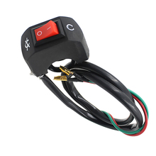 Universal Motorcycle Handlebar Flameout Switch ON OFF Button for Moto Motor ATV Bike Black Fit 22mm Diameter