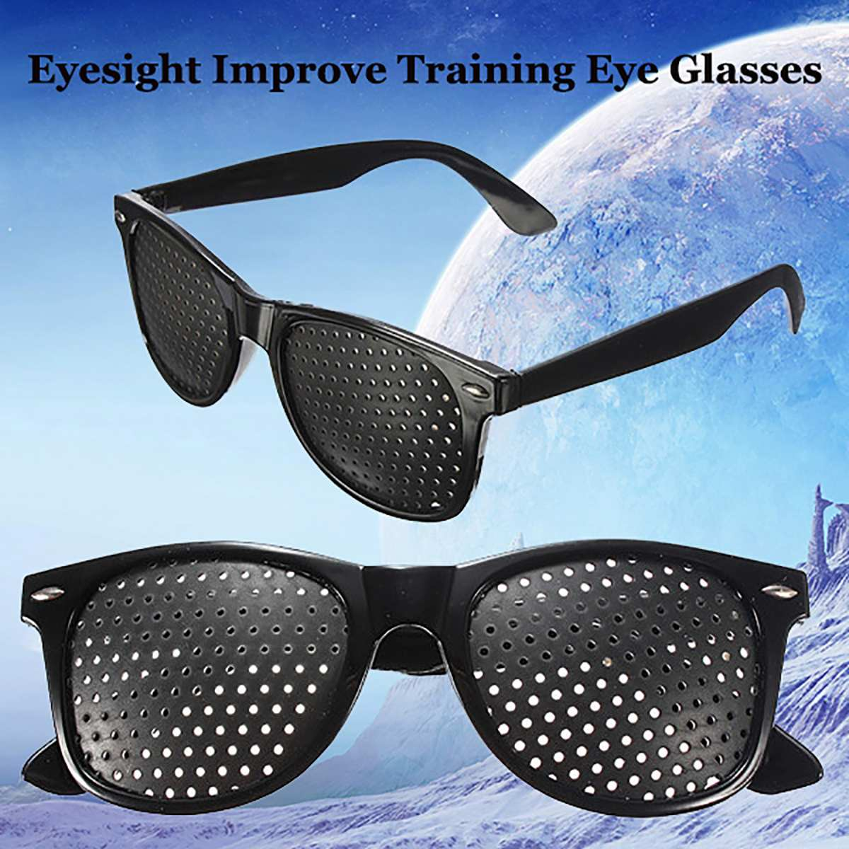 Black Unisex Vision Care Pinholes Eye Exercise Eyeglasses Pinholes Glasses Eyesight Improve plastic High Quality