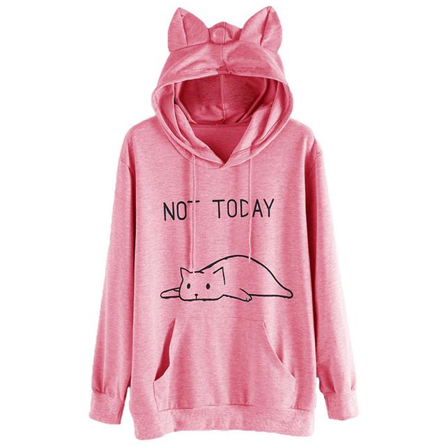 Not Today Cat Hoodie
