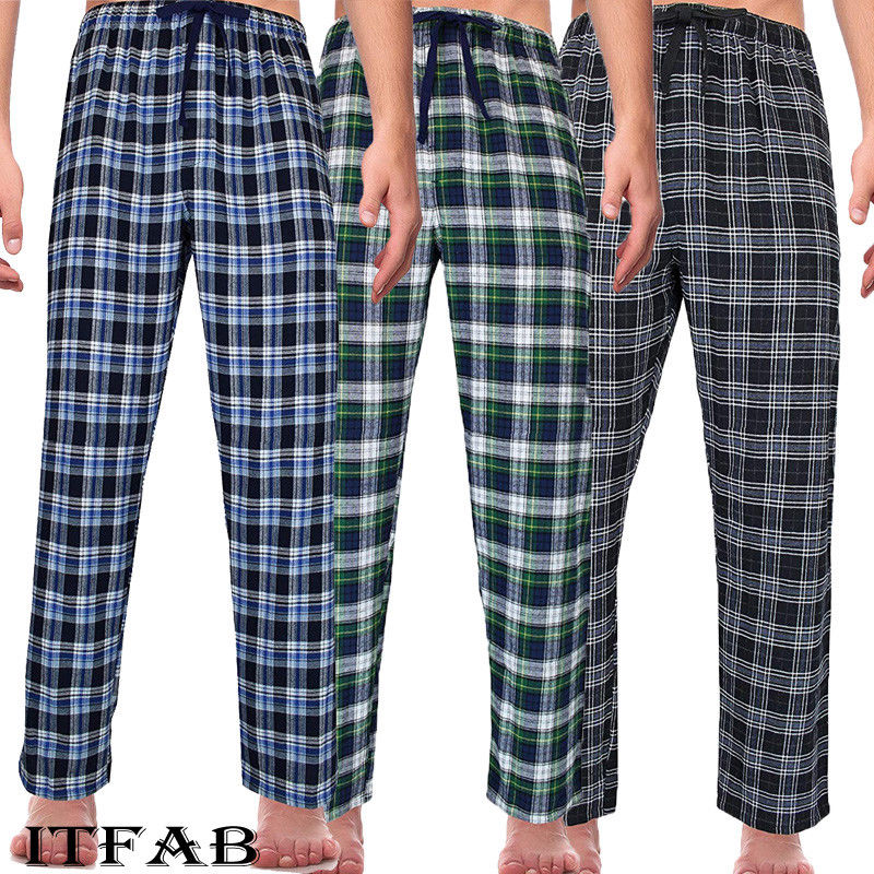 Cheap Cotton Summer Men's Striped Bottoms Pajamas Long Sleepwear Pants Pajamas Male Men At Home Sleep Bottoms Men Sleeping Pants