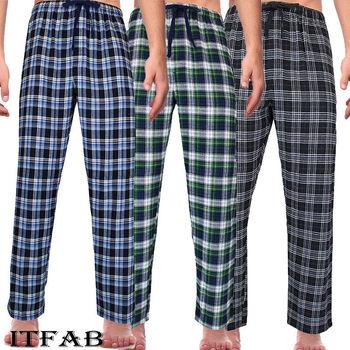 Cheap Cotton Summer Men's Striped Bottoms Pajamas Long Sleepwear Pants Pajamas Male Men At Home Sleep Bottoms Men Sleeping Pants