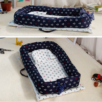 Folding Bionic Bed Portable Toddler Cotton Cradle Baby Bassinet Bumper Sleep Baby Nest for Newborn Play Mat Travel Bed