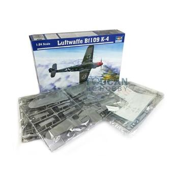 TRUMPETER 02418 1/24 Luftwaffe BF109 K-4 Plastic Airplane Kit Static Model Toy TH05344-SMT2 image