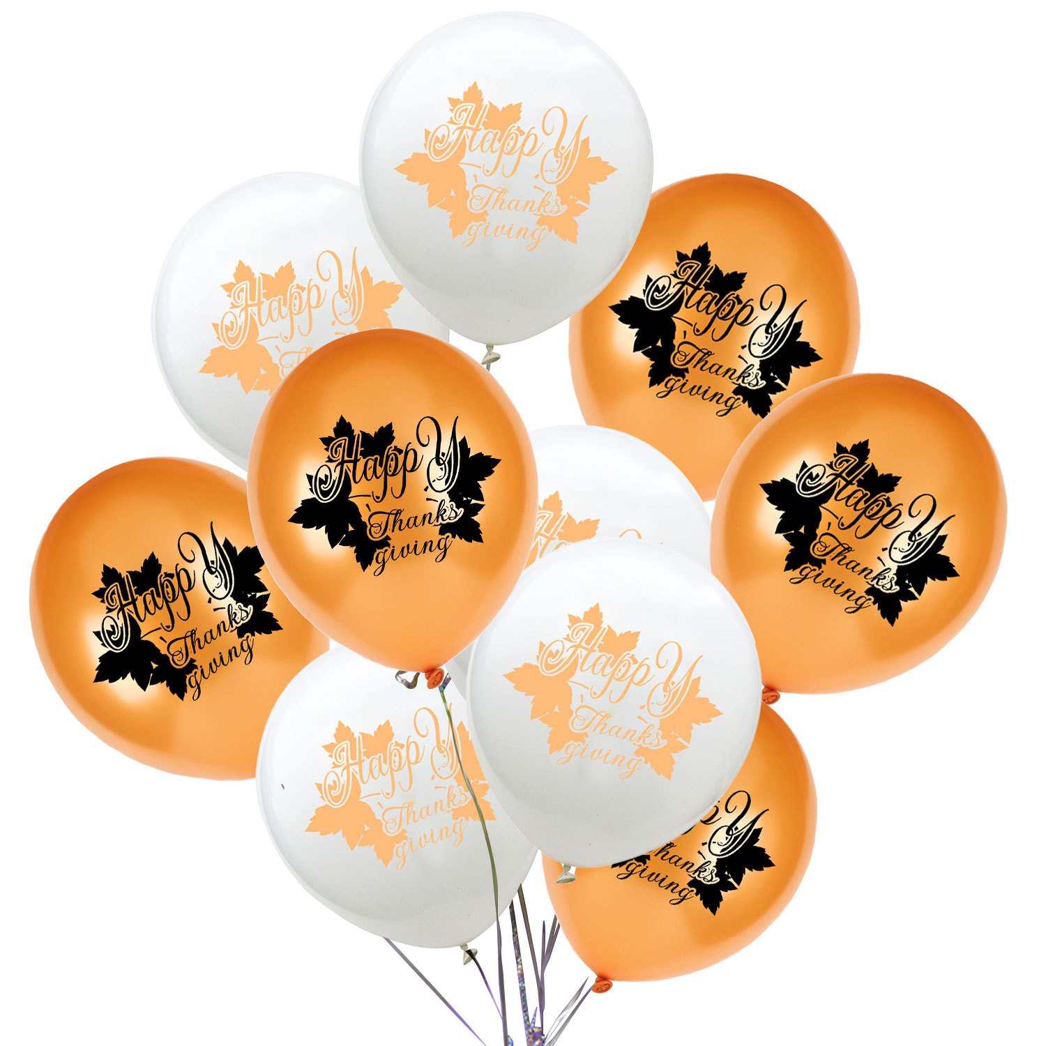 Us 3 1 15 Off 10pcs 12 Inch Maple Leaf Balloons Thanksgiving Party Home Classroom Decorations Happy Thanksgiving Decor Printed Latex Balloons In