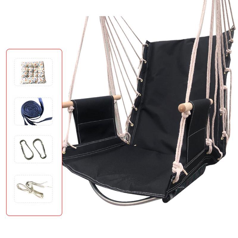 Siège suspendu de chaise de hamac de corde pour des espaces extérieurs d'intérieur