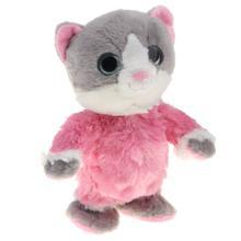 Электронный плюш набивная игрушечная кошка ходящий говорящий животное игрушка для раннего развития игрушки подарок на день рождения для детей малышей