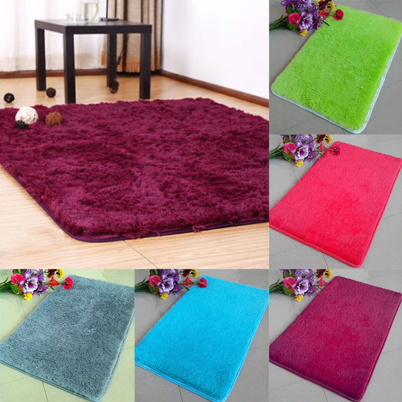 Anti Skid Soft Fluffy Rugs Shaggy Area Rug Dining Room