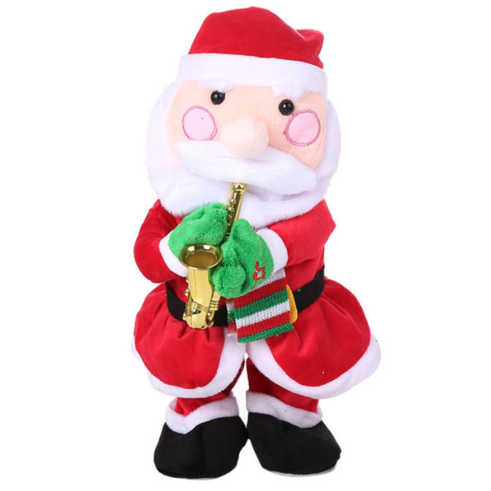 Gift Decor Plush Twerking Singing Dancing For Kids Toy Music Doll Animated Christmas Santa Claus Electric Musical Hip Twisted