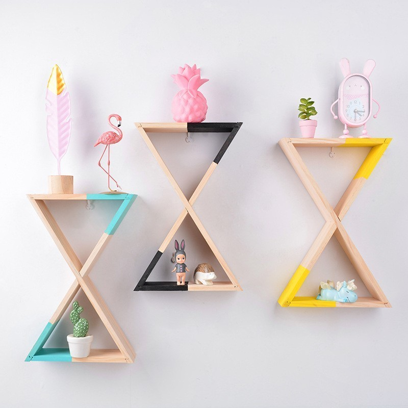 Nordic Style Wall Mounted Shelf Funnel Shelving Modern Wall Decoration Home Decor Bedroom Storage Photography Accessories