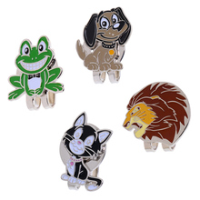 Alloy Magnetic Golf Mark Hat Clips Cute Cartoon Animal Patterns