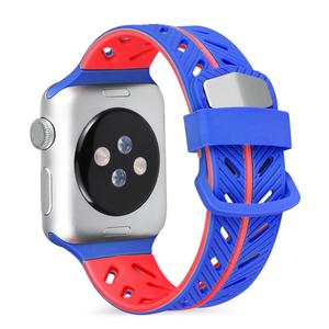 Image 5 - Силиконовый Гладкий Браслет ремешок 42 мм двухцветный модный сменный цвет яркий спортивный мягкий удобный манжет ремешок для iwatch серии