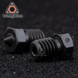 Image 3 - trianglelab 1PCS Top quality A2 Hardened Steel V6 Nozzles for printing PEI PEEK or Carbon fiber filament for E3D HOTEND