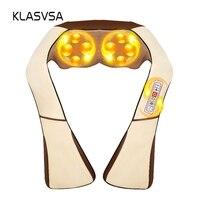 KLASVSA Electric Heating Neck Massager Cape Shiatsu Car Home Infrared KneadingTherapy Ache Shoulder Back Massageador Relax