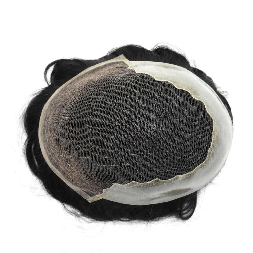 Новейшие волосы накладка из искусственных волос для мужчин мужские волосы Системы натуральный Цвет человеческих волос парик для мужчин Для мужчин шиньоны