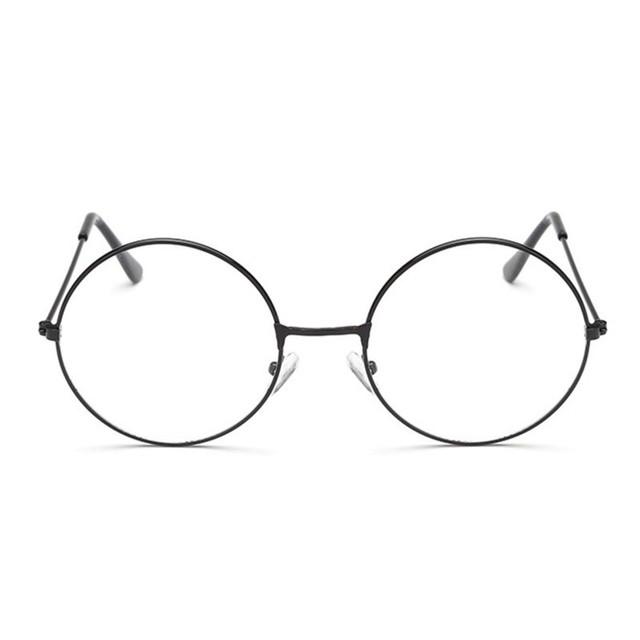 Vintage Style Women/Men Popular Round Metal Clear Lens Glasses Frame Trendy Unisex Nerd Anti-radiation Spectacles Eyeglass Frame
