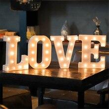 Светодиодный ночсветильник в виде букв 16 см, ламсветильник с алфавитом, питание от аккумулятора, домашнее настенное украшение, декор для вечерние ринки, свадьбы, дня рождения, подарок на день Святого Валентина