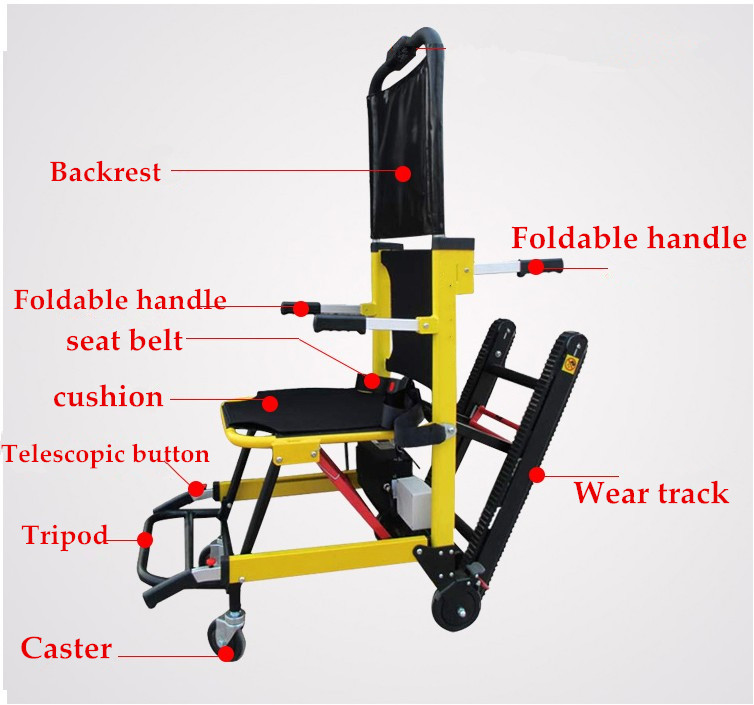 Il trasporto libero 2019 Nuovo design leggero sedia ascensore elettrico scale di arrampicata di potenza sedia a rotelle per disabili