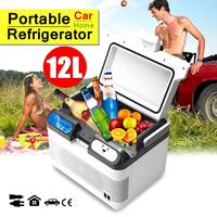 12L Portable Mini Refrigerator 12V/240V Car Camping Home Fridge Cooler/Warmer With 2 Charging Methods with Portable Handle