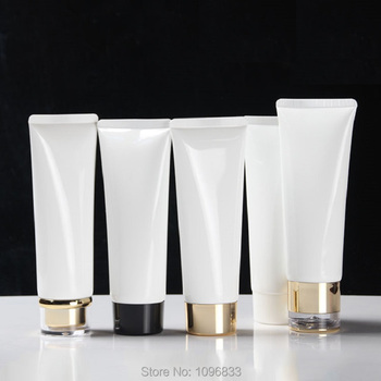 100ml Cosmetic Container Soft Tube White Refillable Empty Plastic Soft tube Bottle Makeup Travel Face Cream Lotion Bottle 50pcs
