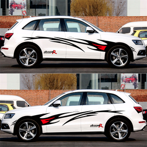Image 3 - تصفيف السيارة سباق لهب الرسومات ملصقات السيارات السيارات الجسم غطاء ديكور الشارات لفورد فوكس 2 VW كيا ريو مازدا 3 سكودا كروز