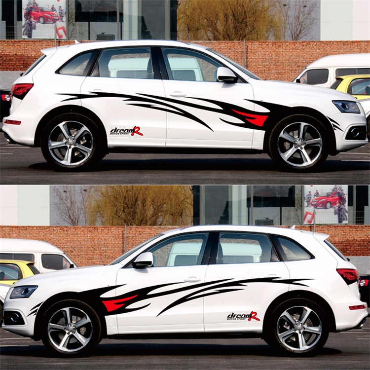 Image 3 - Car styling Racing Flame Graphics Car Stickers Auto Body Decor Cover Decals for FORD FOCUS 2 VW KIA RIO MAZDA 3 SKODA CRUZE-in Car Stickers from Automobiles & Motorcycles