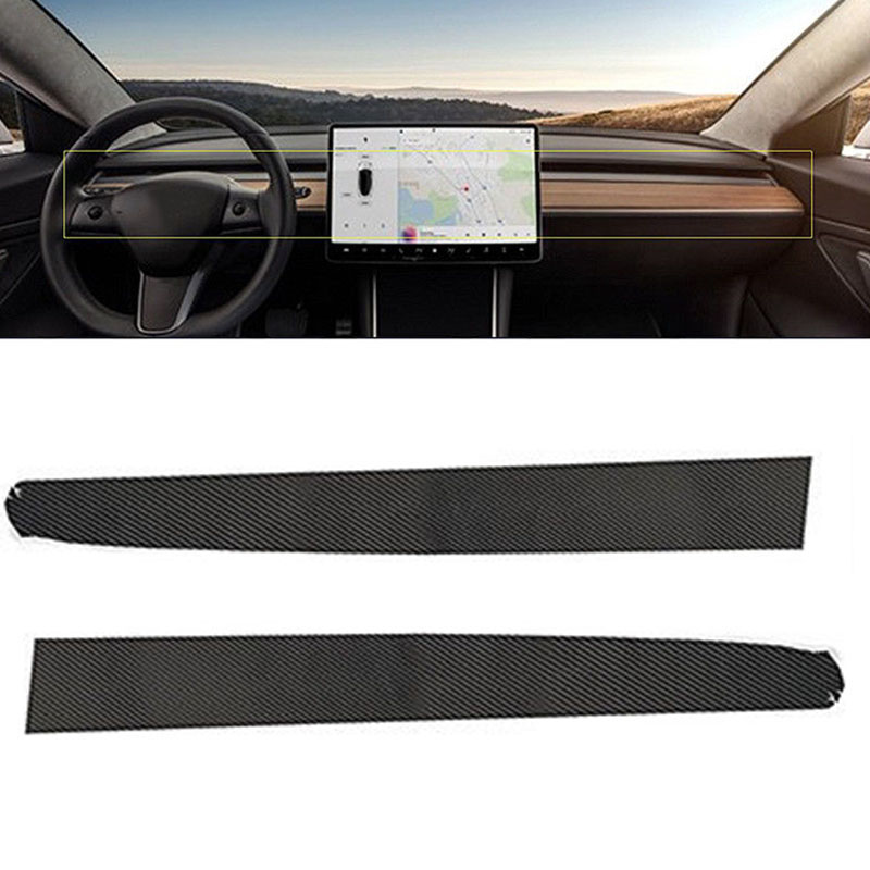 Console Wrap Sticker Accessories For Tesla Model 3 Carbon Fiber Style Car Center Console Dashboard Wraps Stickers DIY in Automotive Interior Stickers from Automobiles Motorcycles