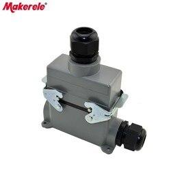 MK-HE-016-4 plastikowa nakrętka przemysłowe heavy duty 400 v złącze przewodu  Harting złącze do dużego obciążenia