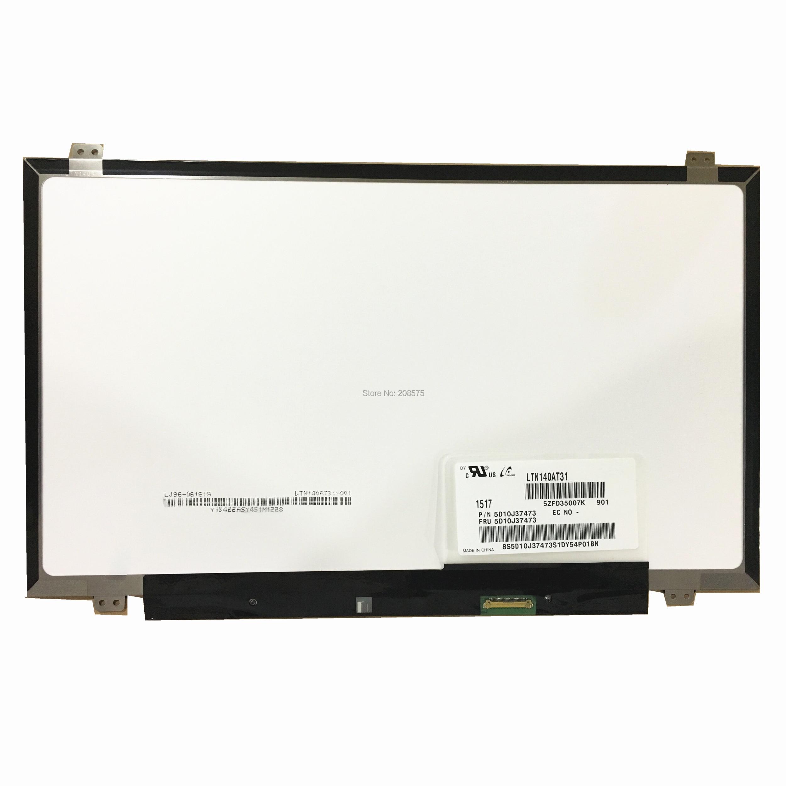Free shipping LTN140AT31 N140BGE E43 N140BGE E33 HB140WX1 301 HB140WX1 601 B140XTN03 2 Laptop lcd screen